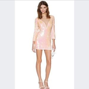 Nasty Gal Dresses - Nasty Gal Pink Sequin Body Con dress